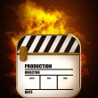 Movies symbol in Fire — Stock Photo