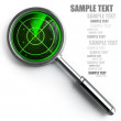 RADAR magnifying glass. — Stock Photo