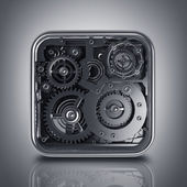 3D gears box — Stock Photo