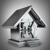 Bank Safe in form house — Stock Photo