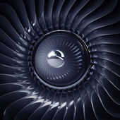 Jet engine front view — Foto Stock