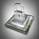 Processor unit CPU the lock — Stock Photo