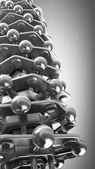 Cromo metallo catena di dna — Foto Stock