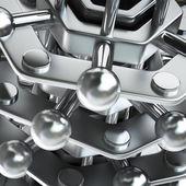 Krom metall dna kedjan — Stockfoto