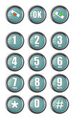 Telephone contact number buttons — Stock Photo