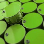 Green FUEL barrel — Stock Photo