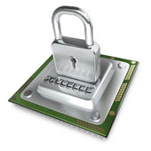 Processor unit CPU the lock. — 图库照片