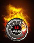 Tachometer in Fire — Stock Photo