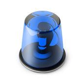 Blue 3d siren isolated — Stock Photo