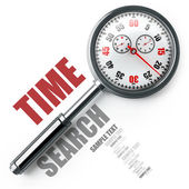 TIME magnifying glass. — Stock Photo