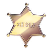 Golden Sheriff Star — Stock Photo