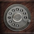 Silver telephone disc — Stock Photo