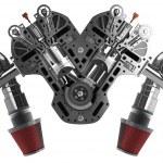 V8 Car engine — Stock Photo #32151149
