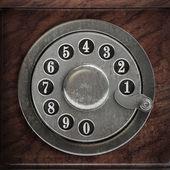 серебряный телефон диск — Стоковое фото