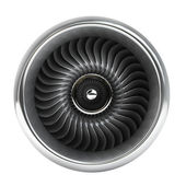 Jet engine front view. — Stock Photo