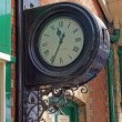 Stock Photo: Clock on Sheringham station.
