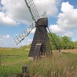 17th century wooden wind driven fen drainage pump. - Stockfoto