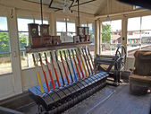 Signal box at Sheringhan station. — Stock Photo