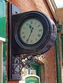 Clock on Sheringham station. — Stock Photo