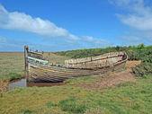 Opuszczony, połów łódka — Zdjęcie stockowe