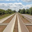 The Cambridgeshire guided bus way, - Stock Photo