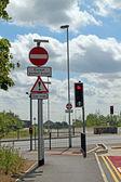 El cambridgeshire guiada por autobús camino, — Foto de Stock