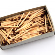 Safety matches in a box  — Stock Photo