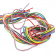 Multicoloured six amp electrical wire — Stock Photo #33296839