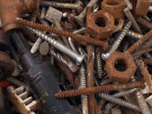 Rusty nuts and bolts. — Stok fotoğraf