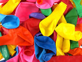 Close up of colourfull party balloons — Stock Photo
