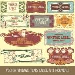 Label art nouveau — Stock Vector #12574516