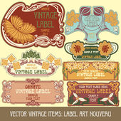 Label art nouveau — Stock Vector