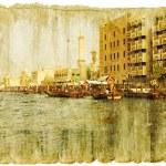 Dubai - retro style picture — Stock Photo #13357439