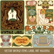Label art nouveau - Stock Vector