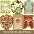 Label art nouveau — Stockvector  #33067271