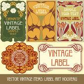 Label secese — Stock vektor