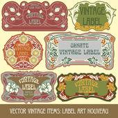 Rótulo art nouveau — Vetorial Stock