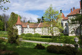 Hunting castle of Count Schonborn in Carpaty — Stock Photo