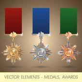 Vector elementen - medailles, awards — Stockvector