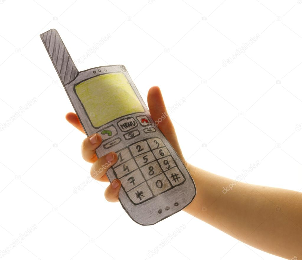 main denfant avec t l phone portable photographie humbak 20729823. Black Bedroom Furniture Sets. Home Design Ideas