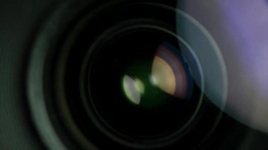 Lens spinning — Video Stock