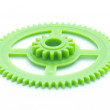 Green cog — Stock Photo