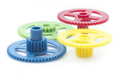 Multicolour cog — Stock Photo
