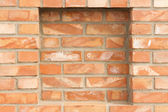 Brick wall with recess — Stock Photo