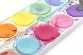 Old watercolor paint — Stock Photo