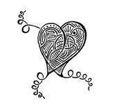 Tattoo heart — Stock Photo