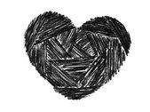 Doodle heart — Stock Photo
