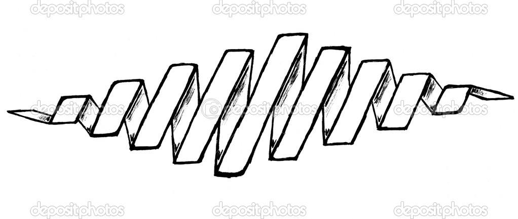 的螺旋形状的绘图