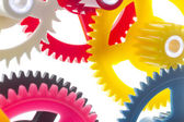 Multicolor clockwork — Stock Photo