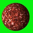 Stock Video: Glitter ball rotating in loop on green screen